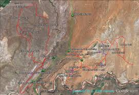 Map St George Utah by Red Cliffs Desert Reserve Babylon Area
