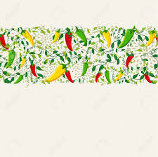 food seamless pattern background illustration with colorful