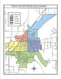 Payson Arizona Map by Solid Waste U2013 Payson