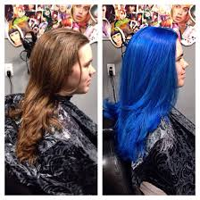 pravana vivids blue and neons blue vivid hair design