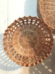 Rattan Baskets by Woven Rattan Basket Small Round Wall Basket Boho Wall Decor