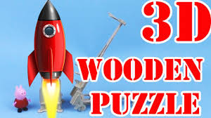 super 3d puzzle how to make a wooden rocket spacecraft missile