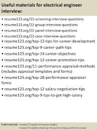 Sample Resume Of An Electrical Engineer by Top 8 Electrical Engineer Resume Samples