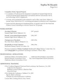 Resumes For Moms Returning To Work Examples by Resume For A Librarian In An Academic Setting Susan Ireland Resumes