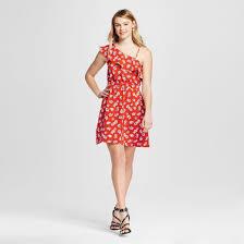women u0027s one shoulder dress xhilaration juniors u0027 red target