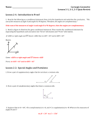 Worksheet On Complementary And Supplementary Angles 2 1 2 2 2 3 Quiz Review Answer Key
