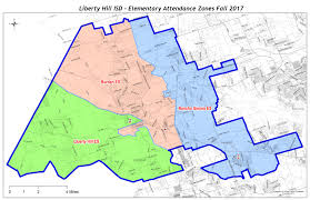 isd map lhisd elementary attendance zones liberty hill isd