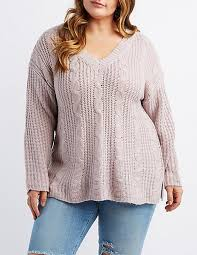 plus size cable knit sweater plus size cable knit v neck sweater russe