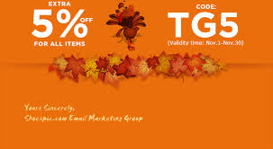shoespie thanksgiving special offer weekly promotions overview