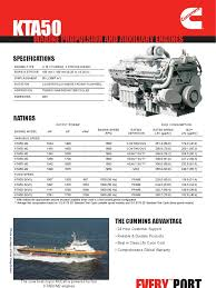 cummins marine kta50 engines turbocharger