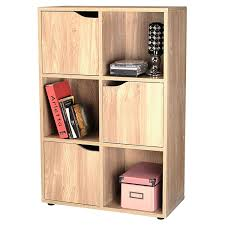 oak finish 6 cube 3 door shelf books cds u0026 dvds wooden storage
