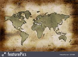Old World Map Signs And Info Old World Map Stock Illustration I2737956 At