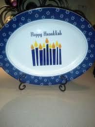 hanukkah plate happy hanukkah decor blue white clear lights outdoor yard