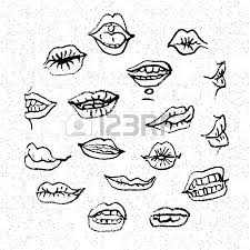 lips set attractive human mouths cartoon mouth icons every