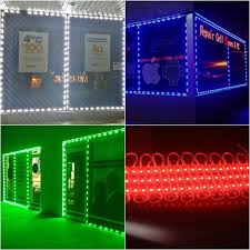 led light installation near me measuring installing storefront window led indoor or outdoor