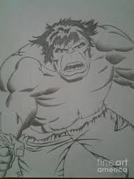 incredible hulk drawings fine art america