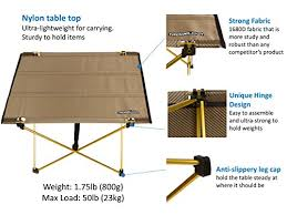 Light Weight Folding Table Trekology Foldable Camping Picnic Table Portable Compact