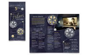 film festival brochure template design
