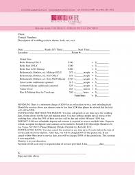 sle experience permalink to wedding makeup artist contract template