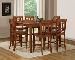 medium brown cherry modern counter height dining table w options