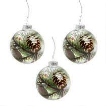 150mm green finial jumbo shatterproof ornaments set