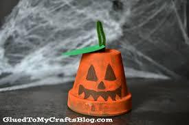 halloween lantern craft cotta pot pumpkin kid craft