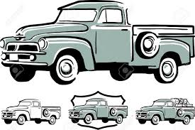 Vintage Ford Truck Art - illustration of vintage pick up truck royalty free cliparts
