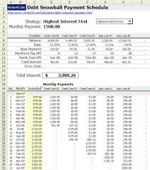 Debt Payoff Spreadsheet Excel Use Snowball Method Spreadsheet To Pay Debts Consumerist