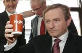 the curious case of enda kenny and the man with two pints in his hand