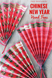 Large Oriental Wall Fans by Painted Paper Plate Hand Fans Perfect For Chinese New Year Or Tet