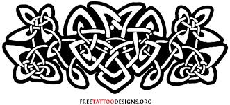 black and white celtic tattoo design