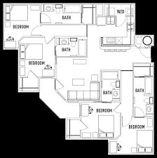 bed bath large waitlist club student housing print floor plan