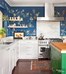wallpaper backsplash kitchen 16 creative ways to use wallpaper in the kitchen