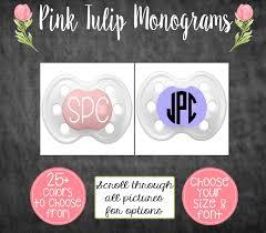 pacifier monograms set of baby bling monogram decal