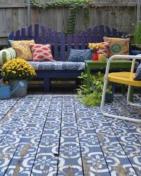 top 10 stencil and painted rug ideas for wood floors patio paint