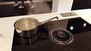 Hob With Built In Extractor by Aeg Combohob Batibouw Youtube