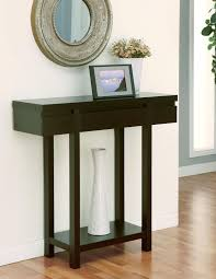 Narrow Hallway Table by Furniture Of America Krex Espresso Hallway Table With Drawer