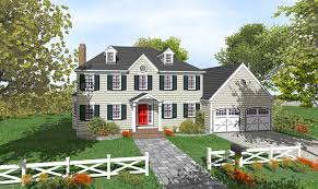 two story colonial with open floor plan 9551dm architectural