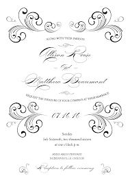 Invitation Programs Black Swirl Wedding Invitation