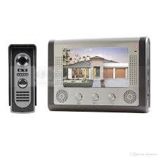 front door video camera 7 inch wired video door phone door bell system kit home security