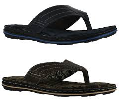 red tape rod mens casual leather toe post slip on flip flop