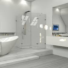 shop vigo vigo neo angle shower enclosure frameless brushed nickel