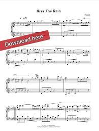 download tutorial kiss the rain yiruma kiss the rain sheet music piano notes chords