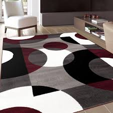 gray and burgundy living room modern circles burgundy area rug 3 u00273 x 5 u0027 contemporary living