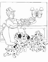 101 dalmatians coloring pages color tickled pink