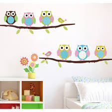 wall decals australia wall art stickers tree nursery baby room cute owl wall sticker on the branch