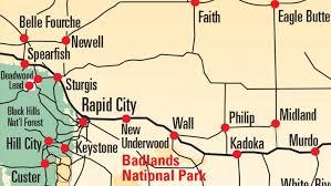 south dakota road map maps black badlands south dakota
