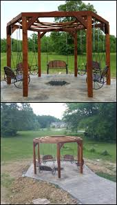 Gazebo Fire Pit Ideas by 58 Best Swings Images On Pinterest Outdoor Projects Backyard
