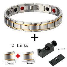 man magnetic bracelet images Bio magnetic bracelet for man stainless steel gamestones box jpg