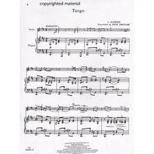 music to write a paper to albeniz isaac tango violin and piano arranged by fritz albeniz isaac tango violin and piano arranged by fritz kreisler carl fischer edition shar music sharmusic com